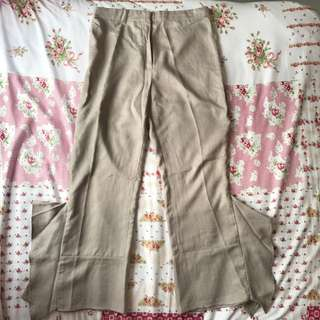Blanc Flare Trousers