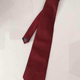 Dasi warna merah merk abba original