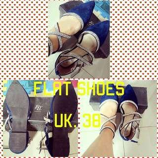Flat Shoes Navy Metro #prelovedkusayang