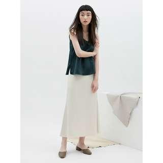 studio doe 氣質緞面傘狀裙 studiodoe