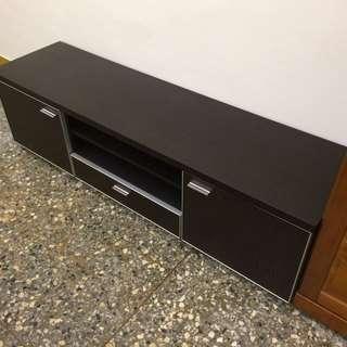 5尺仿鱷魚皮胡桃木色電視櫃.音箱櫃.收納櫃