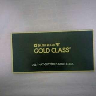 Gold class gv tickets 1 pair