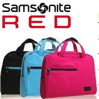 "SAMSONITE  RED 14""1 Slim LAPTOP MESSENGER BAG"