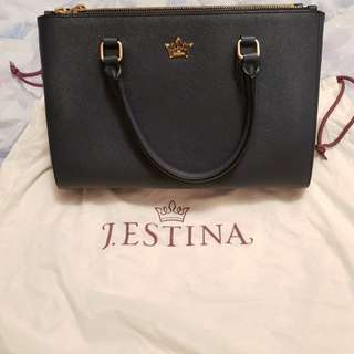 J Estina top handle handbag - Blue