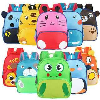 *FREE DELIVERY to WM only / Ready stock* Animal design kids bag each as shown design/color penguin,dog,bear,frog,panda. Free delivery is applied for this item