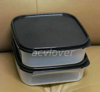 Affordable 2 Pieces of Tupperware Modular Mates Square 1