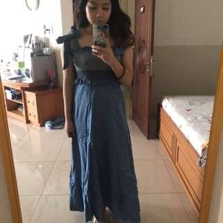 Jeans dress korea