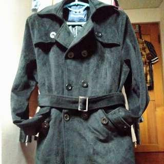 厚絨毛時尚大衣