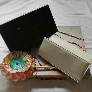 White wallet by Charles & Keith