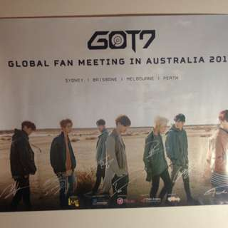 Got7 Global Fanmeeting in Australia Poster (official)