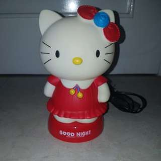 Night Lamp + Piggy Bag Hello Kitty