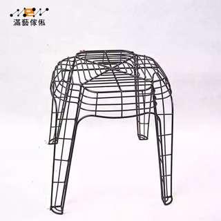 〈滿藝設計傢俬〉936 户外家具休閒凳 鐵制藝術凳 可疊放