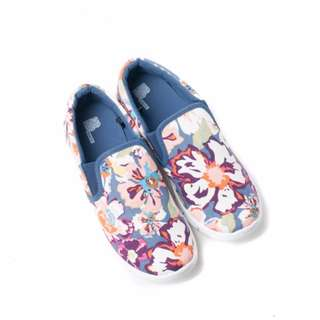 BENCH- YAR0066 Ladies Floral Slip Ons (Navy Blue)