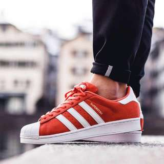 930fda54474d15 PO  Adidas superstar red suede with white stripes