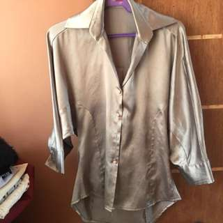 Casual Blouse ( silver )