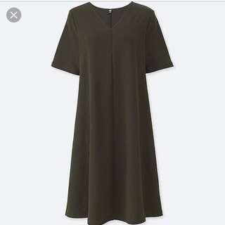 Uniqlo V-neck flare dress