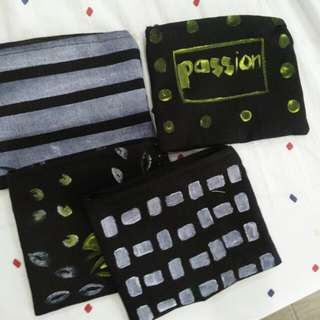 handpainted pouches
