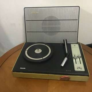 Old old Vintage portable Phillips record player