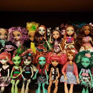 Monster High and various dolls for sale