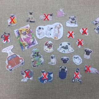 八哥卡通造型小貼紙