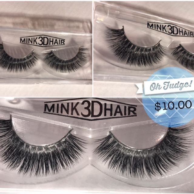 1 Pair Mink 3D False Eyelashes - Full Volume, Soft & Dramatic