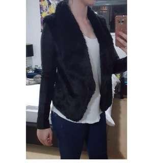 Bardot Faux Fur/Leather jacket - Size 8