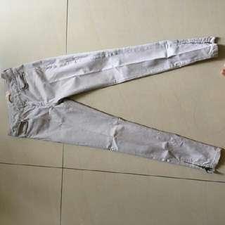 White Zara Washed Jeans