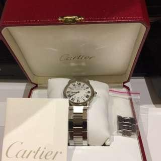 Cartier 石英36mm精鋼錶帶