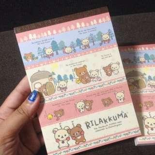 RILAKKUMA Notepads with stickers