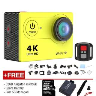 Good deal! H9R 4K Action Camera Remote Shutter (Yellow)