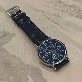 Navy Analog Watch