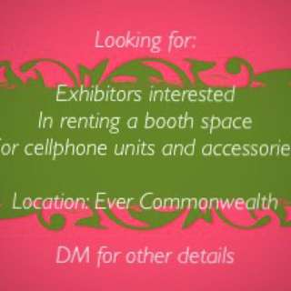 Exhibit space for cellphone units and accessories