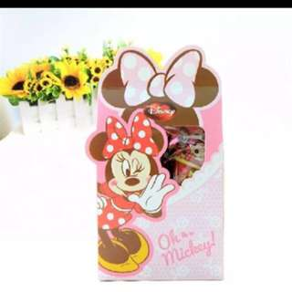 Ready Stocks 50 Pieces Disney Minnie Door Gift Favors Box