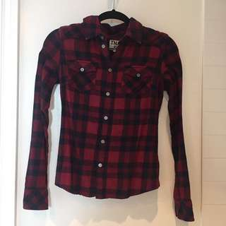 Plaid shirt size XS