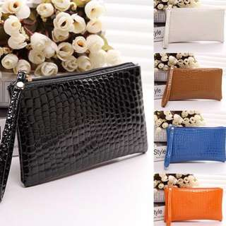 Crocodile Embossed Clutches