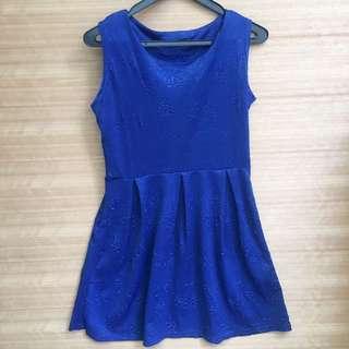 dress simple biru