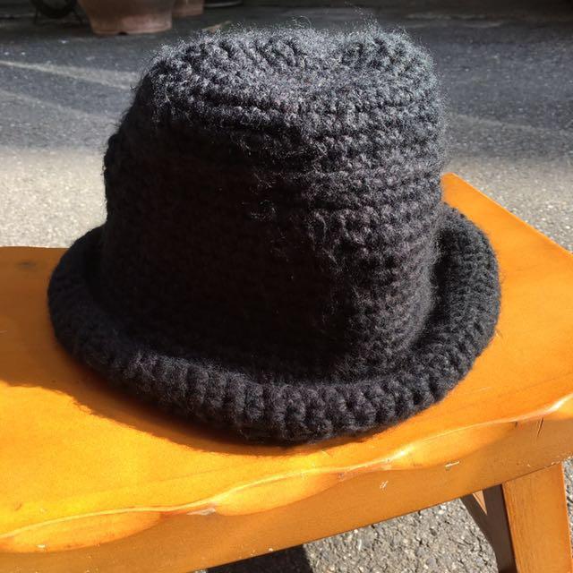 毛線黑帽(贈✨凡購買帽子類直接送這頂啦!)