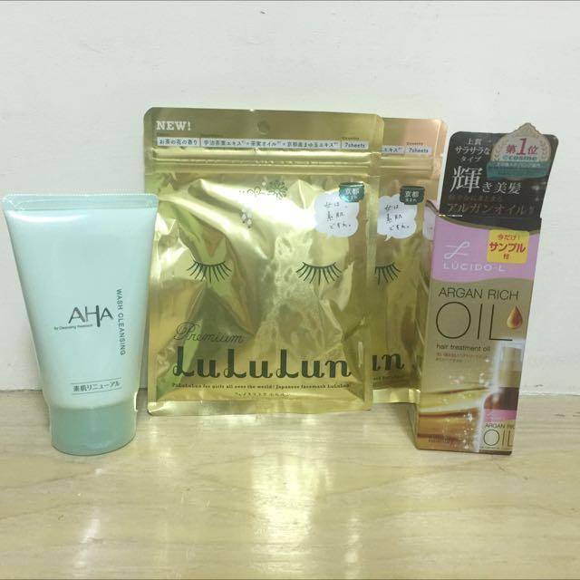 全新日本帶回✨洗面乳✨面膜✨髮油