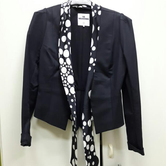 專櫃設計師款黑色西裝外套