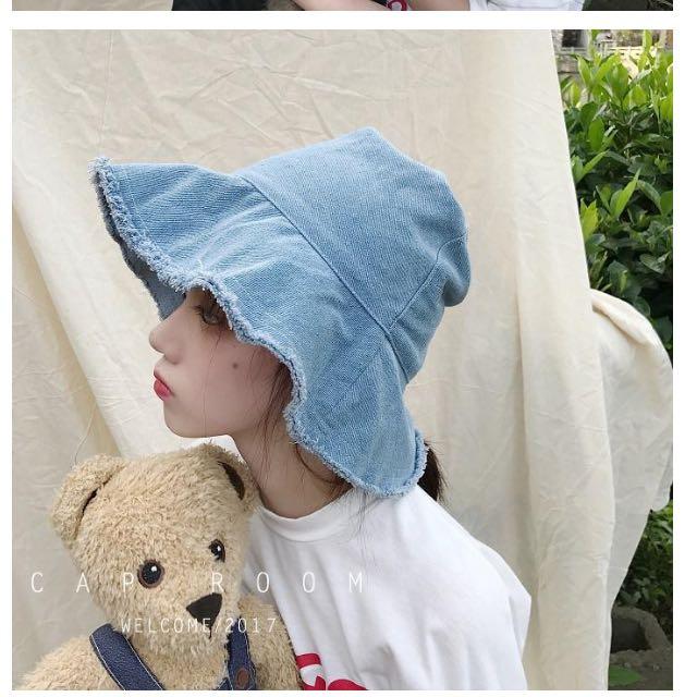 抽鬚單寧漁夫帽