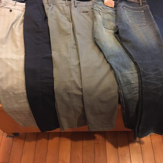 牛仔 西裝 韓版 休閒 窄版 褲