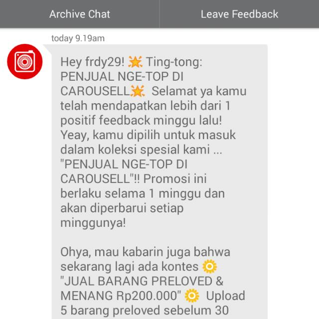 again from carousell