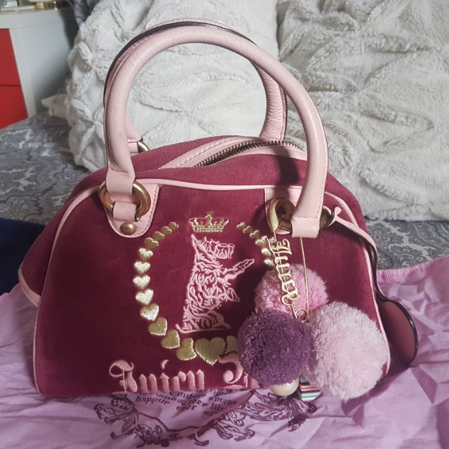 Authentic Juicy Couture Purple Small Velour Bag