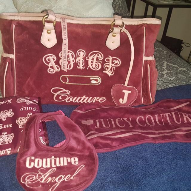 Authentic Juicy Couture Purple Velour Nappy Bag