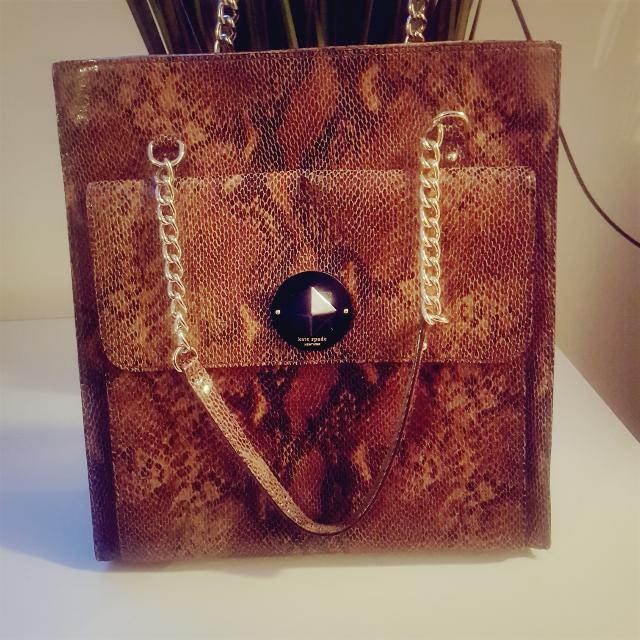 Authentic ♡♡KATE SPADE New York☆☆☆ LARGE Python Skin Bag !!! ♡Price Negotiable♡