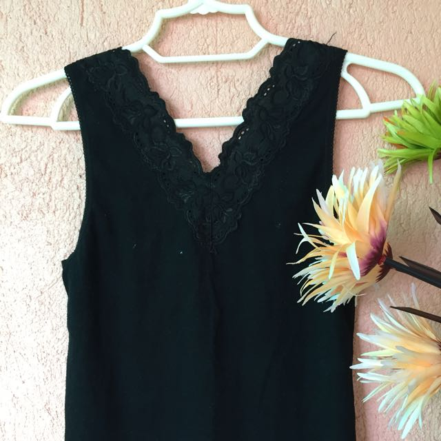 Black Tops w/ lace at the Back (Preloved)