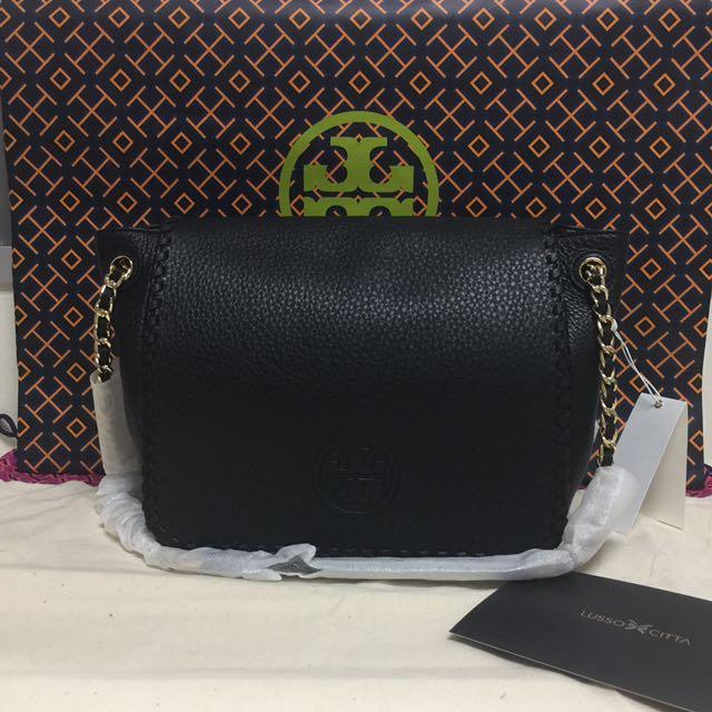 1072c7c11bb5 BN Authentic Tory Burch Marion Small Flap Shoulder Bag Black