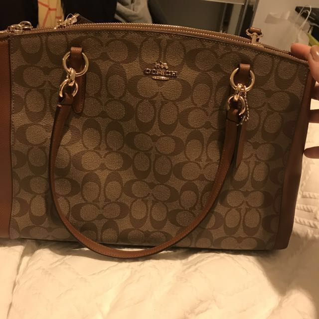 Brand New Tan Coach Handbag