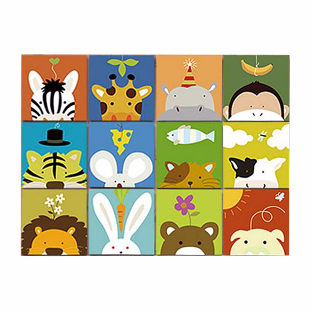 Children Diy Kids Art Craft Canvas Painting Paint By Numbers