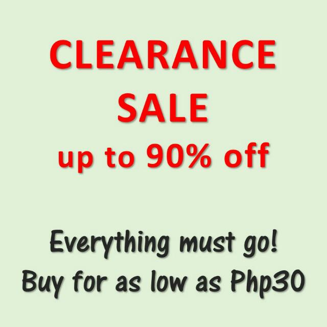 Clearance Sale up to 90% OFF